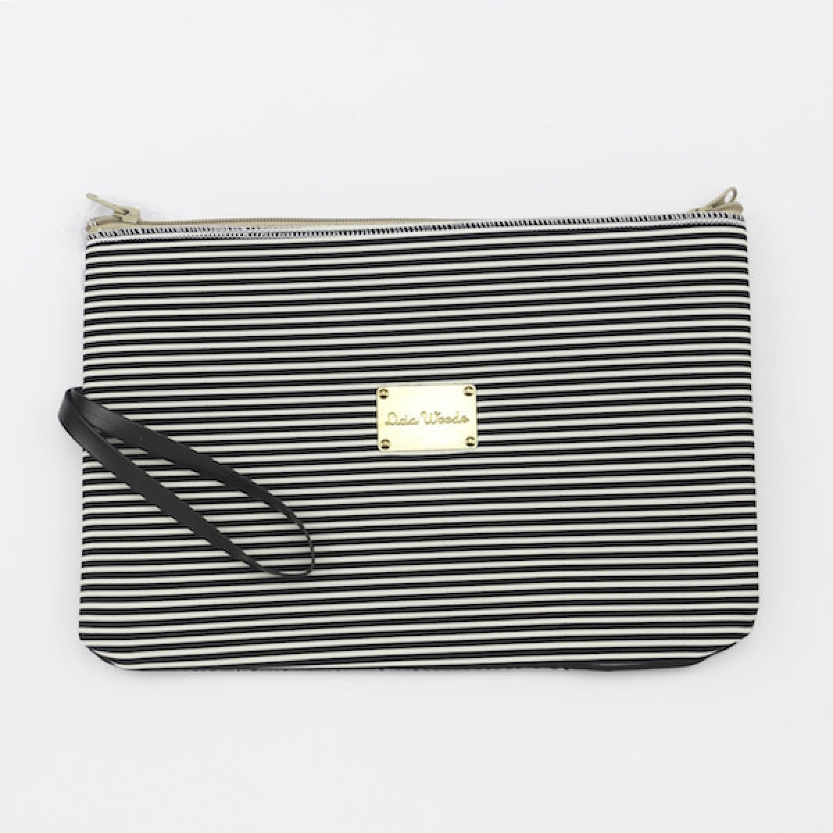 d5688cd0f525e Handcrafted clutch black and white Licia Woods